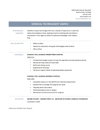 Surgical Tech Resume Sample Horsh Beirut Template Best Throughout