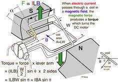 electric motor physics. DC Electric Motors Motor Physics