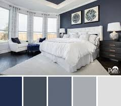 this bedroom design has the right idea the rich blue color palette master bedroom color ideas