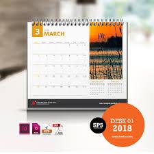 2018 desk calendar template desk 01