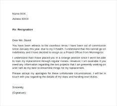 Resign Letter Example Professional Resignation Letter Sample Resign ...