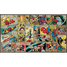 roommates jl1290m ultra strippable marvel classics comic panel mural 6 feet x 10 5 feet wall murals amazon  on marvel comics mural wall graphic with roommates jl1290m ultra strippable marvel classics comic panel mural