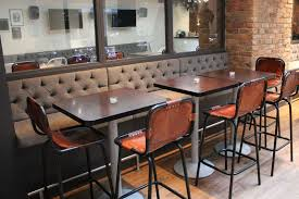 banquette table as the best dining room and kitchen furniture. Furniture: Awesome Banquette Seating Furniture Ideas Charming Traditional Grey Fabric L Shape With White Wooden Base Added Square Table As The Best Dining Room And Kitchen I