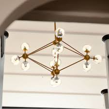cer pendant light brass 15 bulbs