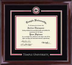 temple university showcase edition diploma frame in encore item 306235 from temple university book