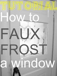 diy faux frosted window