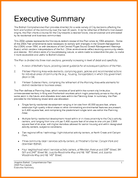 Writing Executive Summary Template Summary Format Ohye Mcpgroup Co