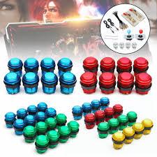 <b>2 Players</b> DIY <b>Arcade Joystick</b> Kits With 20 LED <b>Arcade</b> Buttons + <b>2</b> ...