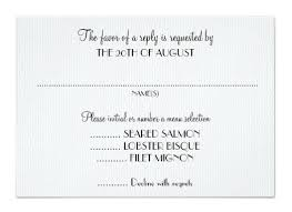 Rsvp Wording With Meal Choices Wedding Rsvp Cards Wording Wedding