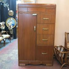 vintage antique furniture wardrobe walnut armoire. 230 vintage antique art deco walnut armoire c 1930 nice wardrobe cabinet 1 door for hanging and 4 drawers with original hardware furniture e