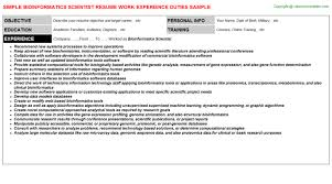 Bioinformatics Resume Sample Bioinformatics Scientist Resume 6