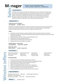 Sales Manager Resume Template Adorable Sales Manager CV Example Free CV Template Sales Management Jobs