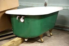 after a hauling snafu we were left with a three footed clawfoot tub handy hubby was confident he could replace the broken foot but a few weeks ago
