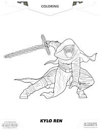 Small Picture Star Wars The Force Awakens Kylo Ren Coloring Page Disney