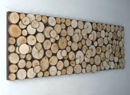 wood slice wall art on birch wood slice wall art with original and practical diy wall decorating ideas