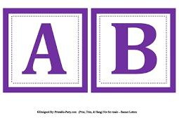 Printable Letter For Banners Small Square Printable Alphabet Letters Banner