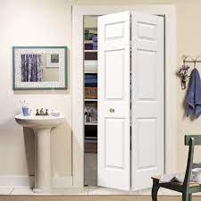 Jeld Wen 30 In X 80 In Colonial Primed Textured Molded Composite Mdf Closet Bi Fold Door Thdjw160600149 The Home Depot