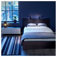 Modern Blue Bedroom Appealing Small Girls Bedroom Idea With Espresso Wooden Twin Bed