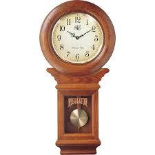 traditional chiming oak wall clock