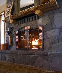 steel fireplace doors