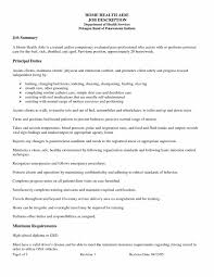 Resume For Home Health Aide With No Experience Valid Sample Resume
