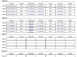 work out schedule templates free workout schedule template best of excel weekly plan training