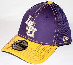 Lsu Tigers New Era Ncaa 39thirty Neo Fitted Hat 2 Tone