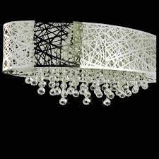 lovely flush mount chandelier crystal web modern laser cut shade oval stainless steel lights lighting charming flush mount chandelier crystal
