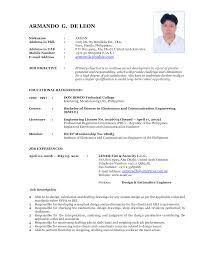 recent resume format resume format  samples professional cv format recent recent