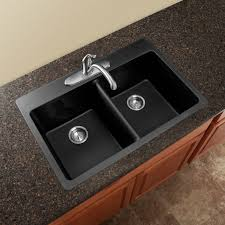 dark delicatus granite with elkay sinks and graff faucets for your kitchen design ideas