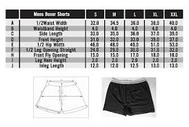 Boxer Size Chart Men And Women Underwear Briefs Panties Online Frank