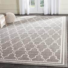 safavieh indoor outdoor amherst dark grey beige rug 10 x 14 amt414r 10 is a machine made rugs that is made from polypropylene mainly use for indoor