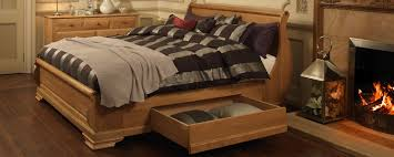 make the most of your revival wooden bed with our large capacity underbed storage drawers
