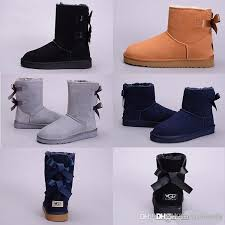 ugs winter australia classic snow uggs boots good fashion tall boots real leather bailey bowknot women s