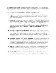 Accomplishments For Resume Examples Best Of Graduate School Resume Sample Httpwwwresumecareer