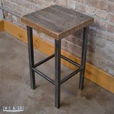 outerlands gallery metal wood furniture. Oliver Kitchen Height Stool Made From Steel And Reclaimed Barn Wood. These Sturdy Stools Are Available At WS \u0026 Co. Outerlands Gallery Metal Wood Furniture