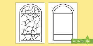 stained glass window template primary
