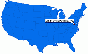 Image result for the Battle of Chancellorsville, map