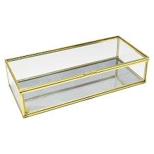 Decorative Display Boxes Threshold™ Decorative Glass Storage Box For Seashells Cottage 12