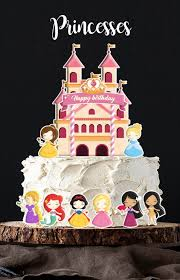1set12 Princess Cake Topper For Birthday Celebration Babies Kids
