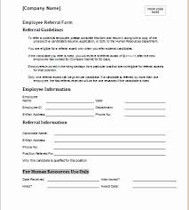 Referral Form Template Word Employee Referral Form Template Word Michaelkors Outlet Site