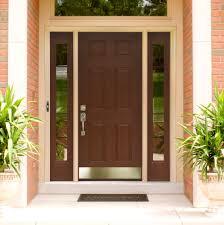 Enjoyable Dark Brown Single Entrance Doors with 6 Panels as Front Door  Design Ideas