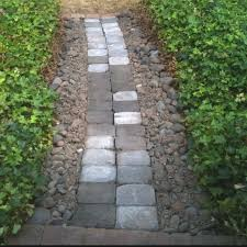 Pathway made from rocks around the yard
