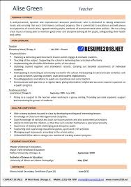 Example Teacher Resumes Custom Teacher Resume 28 Examples Resume 28
