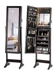 luxfurni led light jewelry cabinet