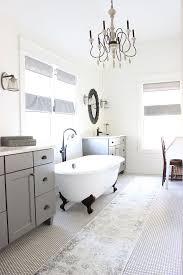 Fixer Upper Farmhouse Bathroom Bathroom Penny Tile Floor and Shiplap ...