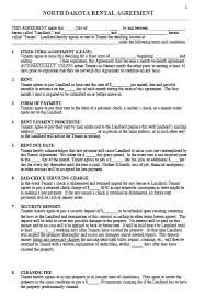 Free North Residential Lease Agreement Template Word Sample House ...