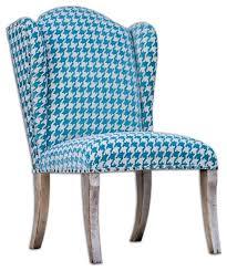 winesett blue armless chair