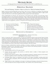 Horse Trainer Resume Personal Trainer Description Resume Personal Trainer Resume 20