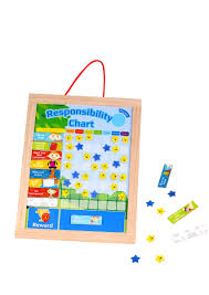 Responsibility Chart Tooky Toy Wooden Responsibility Chart